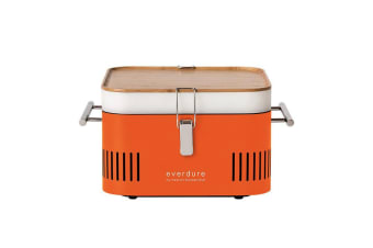 Everdure by Heston Blumenthal CUBE Charcoal Portable BBQ Orange