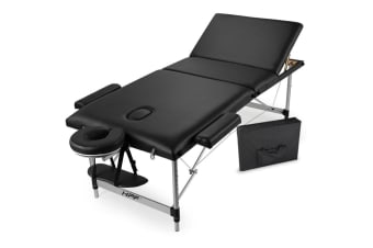 NEW HPF Portable 3 Fold Aluminium Massage Treatment Beauty Waxing Table Bed