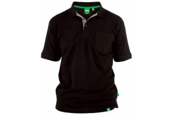 Duke Mens D555 Grant Kingsize Pique Polo Shirt (Black)
