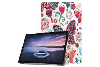 For Samsung Galaxy Tab S4 10.5 Case Colourful Butterflies PU Leather Folio Cover