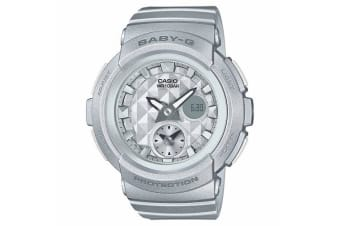 Casio Baby-G Female Grey Analogue/Digital Studs Series Watch BGA195-8A BGA-195-8ADR