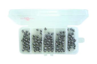 100 x Size 000 Fishing Ball Sinkers in Tackle Box