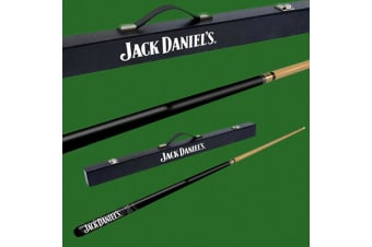 Jack Daniel`s Straight Logo Wood Pool Cue in Carry Case