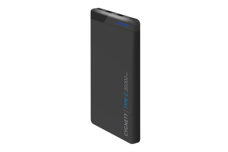 Cygnett ChargeUp Pro 20000 mAh 63W USB-C Power Bank - Black (CY2220PBCHE)
