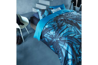 Mineral Blue Quilt Cover Set Super King