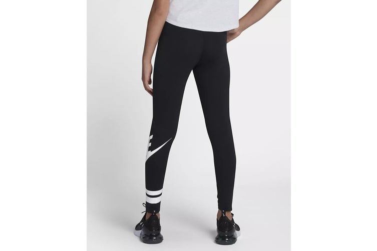 Nike Girls' Sportswear Graphic Leggings (Black, Size L)