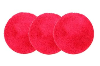 Pack of 3 Freckles Round Shag Rugs Red