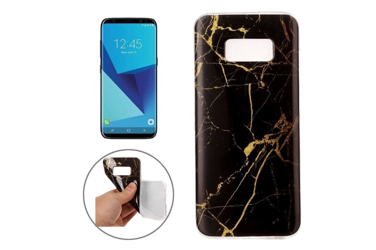 For Samsung Galaxy S8 Case Elegant Marble Pattern Durable Protective Cover Gold