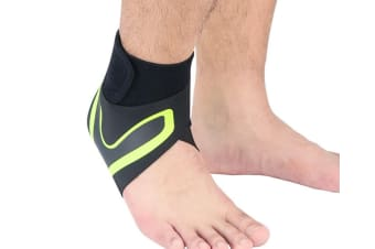 Select Mall A Pair of Sports Ankle Sleeve Compression Anti-sprain Protection Socks Outdoor Sports Climbing Equipment-Green