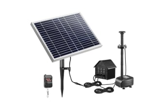 50W Solar Fountain Water Pump with Battery and LED Light for Birdbath Garden Pool