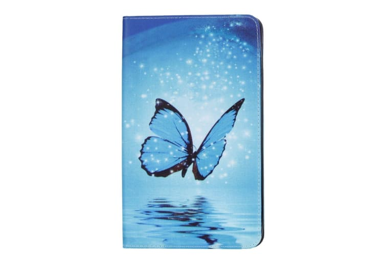 For Samsung Galaxy Tab A 8 0 2017 SM-T380 385 Case Leather Cover Blue  Butterfly