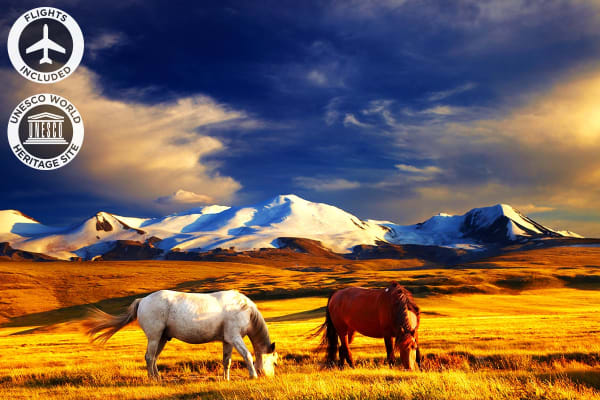 MONGOLIA: 16 Day Authentic Mongolia Tour Including Flights for Two