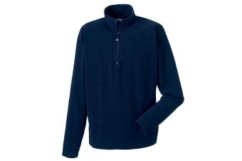 Russell Europe Mens 1/4 Zip Anti-Pill Microfleece Top (French Navy) (M)