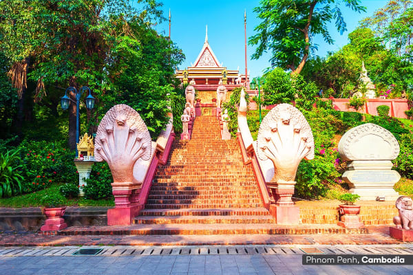 VIETNAM: 7 Day Vietnam & Cambodia Tour Including Flights for Two