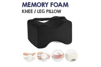 Black Color Color Memory Foam Leg Knee Support Pillow Orthopedic Firm Pain Relief