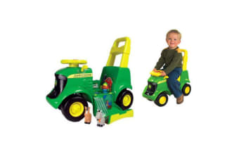 John Deere Kids Ride-On Tractor Push Wheel 3 in 1 Children Riding Toy w Sounds