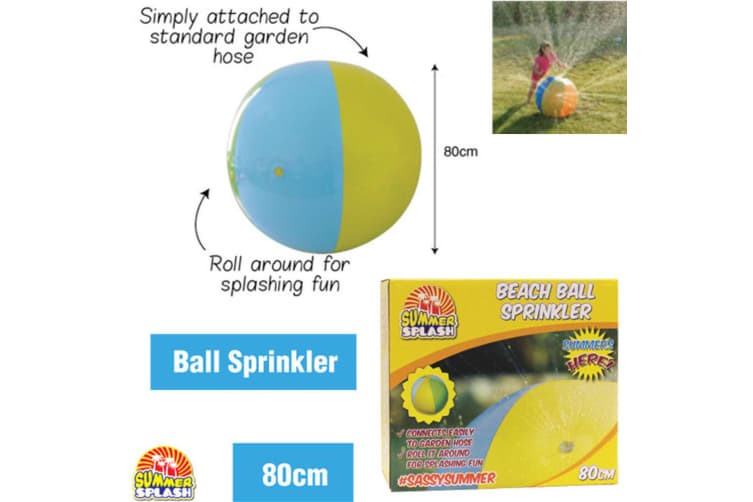 Colorful Giant Inflatable Sprinkler Ball Water Spray Beach Lawn Kids Outdoor Toy