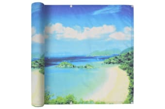 vidaXL Balcony Screen Oxford Fabric 90x400 cm Lake View Print
