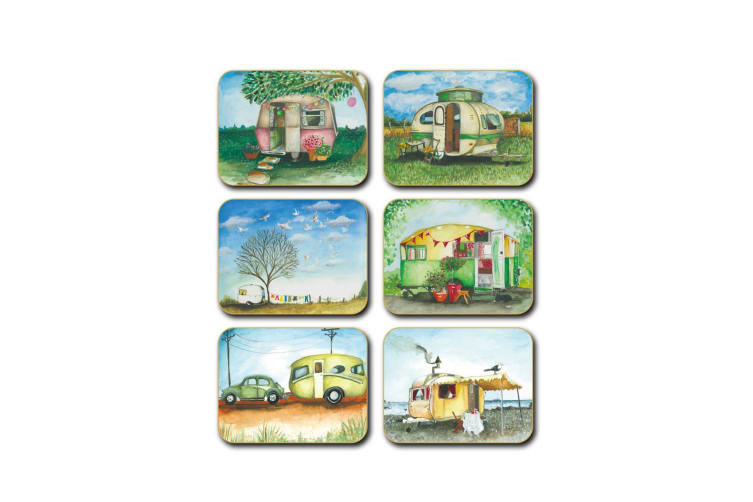 Cinnamon Vintage Caravans Placemats Set of 6