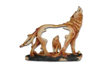 Cherokee River Howling Wolves Resin Plaque