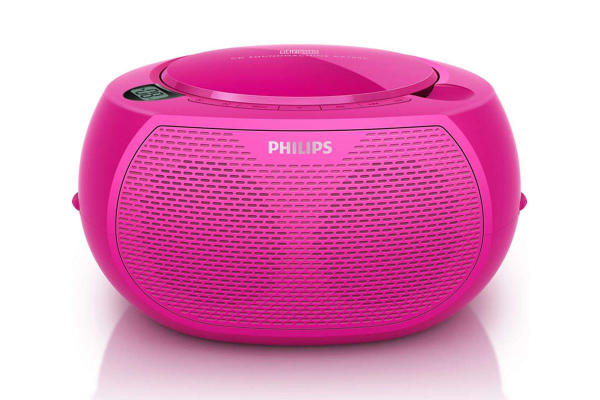 Philips Sound Machine Portable CD Player - Pink (AZ100C)