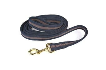 Hy Soft Webbing Lead Rein Without Chain (Navy/Pink) (One Size)