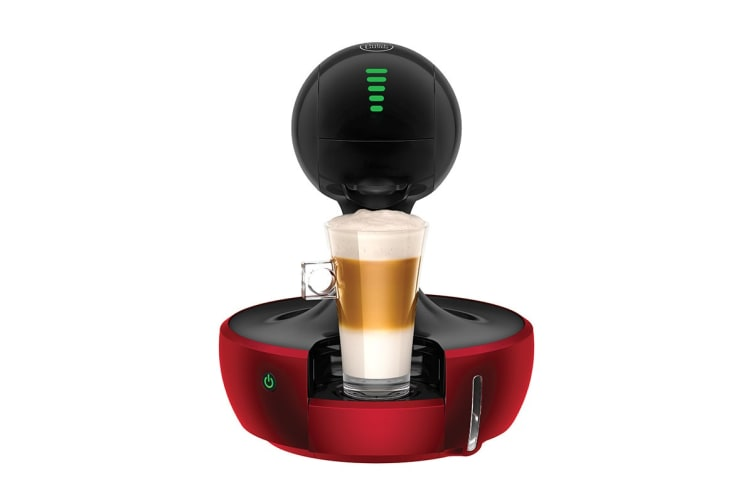 NESCAFE Dolce Gusto Drop Automatic Capsule Coffee Machine - Red Metal (NCU700RED)