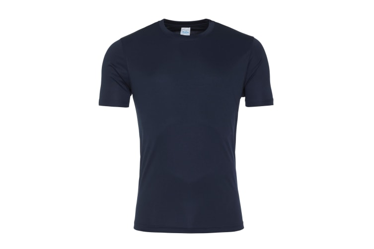 AWDis Just Cool Mens Smooth Short Sleeve T-Shirt (French Navy) (L)