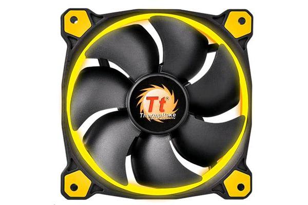 Thermaltake Riing 14 High Static Pressure Yellow LED Radiator Fan
