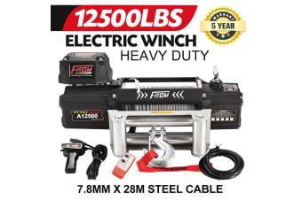 FORM Electric Winch 12500LBS12V Wireless Steel Wire Rope Remote 4WD ATV BOAT TRUCK