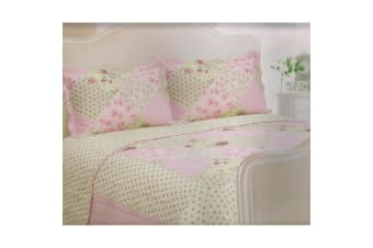 E Of W Oregon Quilted Floral/Gingham Bedspread With Pillowshams Bedding Set (Oregon)