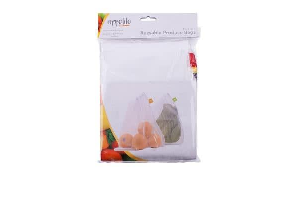 Appetito Reusable Produce Bags 5pk