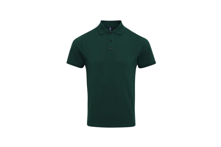 Premier Mens Coolchecker Plus Pique Polo With CoolPlus (Bottle) (L)
