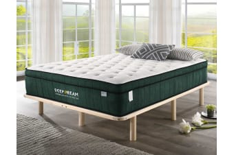 Green Tea Cool Gel Memory Foam Mattress 36cm 5 Zone King Single