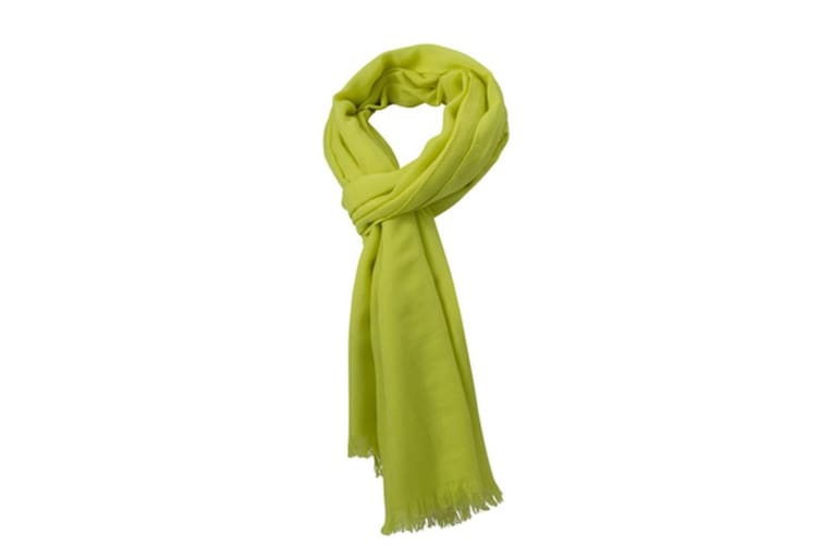Myrtle Beach Adults Unisex Summer Breeze Scarf (Acid Yellow) (One Size)