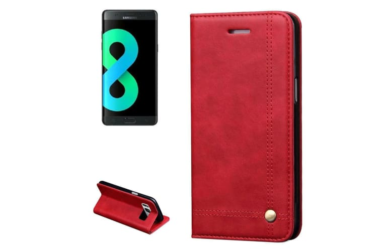 For Samsung Galaxy S8 PLUS Wallet Case Elegant Horse Flip Leather Cover Red