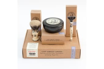Capt Fawcett's Shaving Gift Set - Shaving Brush, Razor And Shaving Soap
