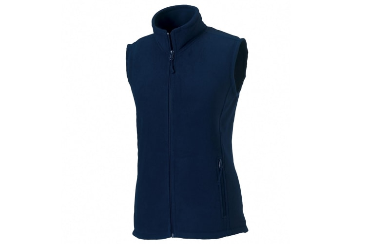 Russell Europe Womens/Ladies Outdoor Full-Zip Anti-Pill Fleece Gilet Jacket (French Navy) (XS)