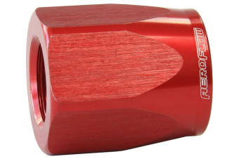 Aeroflow Hose End Socket Alloy -4AN Red Suit Braided Hose