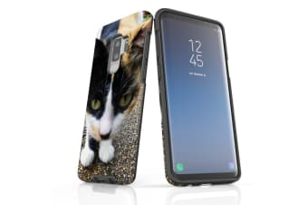 For Samsung Galaxy S9+ Plus Case Armour Cover  Curious Cat