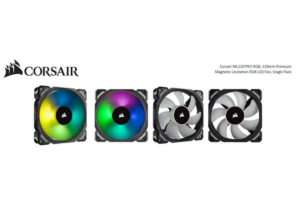 Corsair ML120 PRO RGB, 120mm Premium Magnetic Levitation RGB LED PWM Fan, Single Pack (Embargo Nov 16)