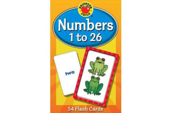 Numbers 1 to 26 Flash Cards, Grades Pk - 1