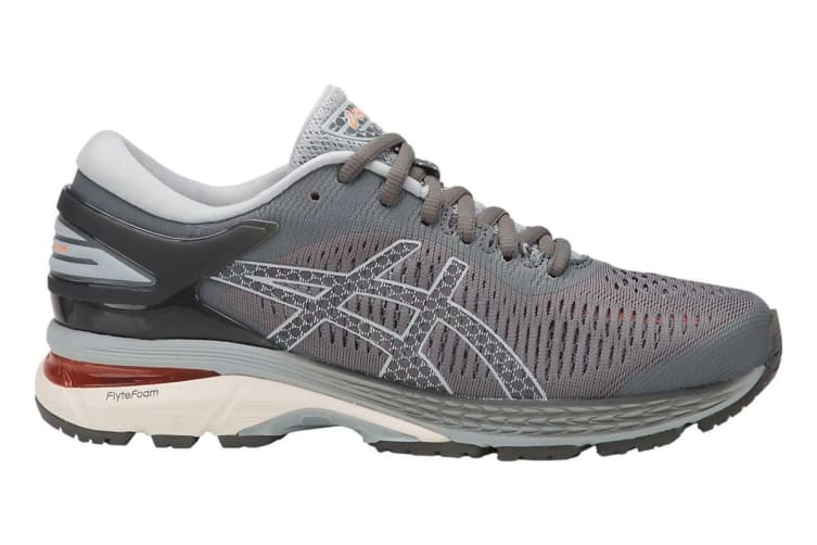 ASICS Women's Gel-Kayano 25 Running Shoe (Carbon/Mid Grey, Size 6)