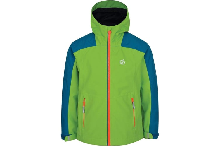 Dare 2B Childrens/Kids Avail Seamsmart Hooded Waterproof Jacket (Jasmine Green/Petrol Blue) (5-6 Years)