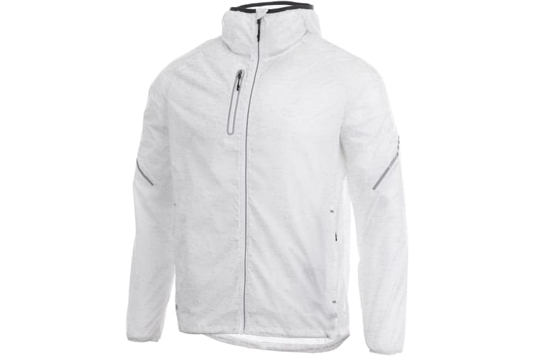 Elevate Mens Signal Reflective Packable Jacket (White) (L)