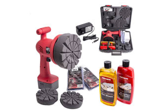 WAX ATTACK PORTABLE RECHARGABLE POLISHER KIT CAR BOAT + MOTHERS WASH & CARNAUBA