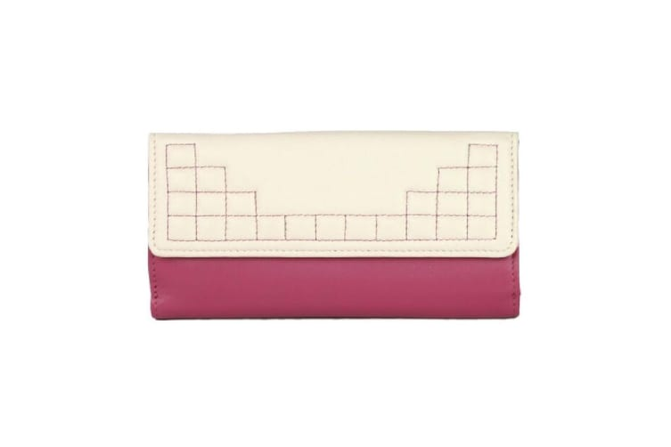 Eastern Counties Leather Womens/Ladies Anne Purse With Stitching Detail (Vanilla/Rose) (One Size)