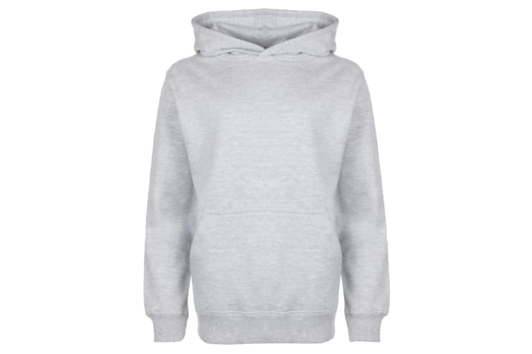 FDM Kids/Childrens Unisex Hooded Sweatshirt / Hoodie (300 GSM) (Heather Grey) (9-10 years)