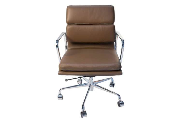 Replica Eames Low Back Soft Pad Management Desk / Office Chair | Brown