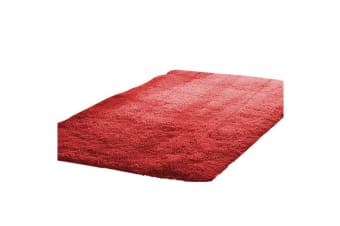 New Designer Shaggy Floor Confetti Rug Red 120x160cm